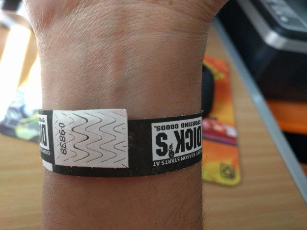 This horribly misaligned wristband:   21 Photos That'll Ruin Your Whole Goddamned Day