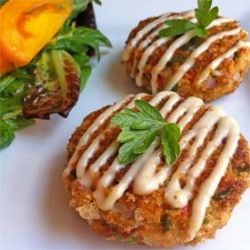 Salmon Cakes - Ade makes me these....and I LOVE them