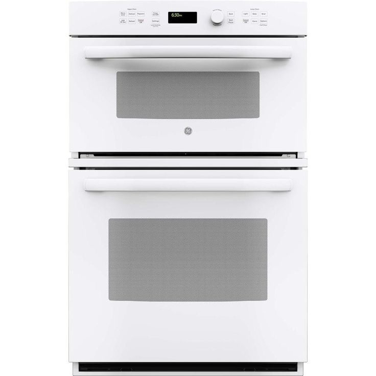 GE 27 in. Electric Wall Oven with Built-In Microwave in