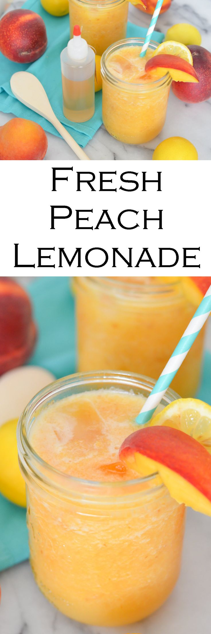 Fresh Peach Lemonade Made w. Peach Puree
