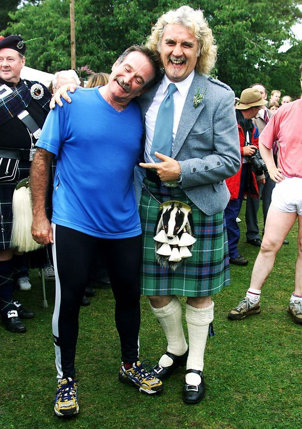 Robin pictured with Billy Connolly