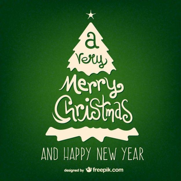 Green vintage Christmas card