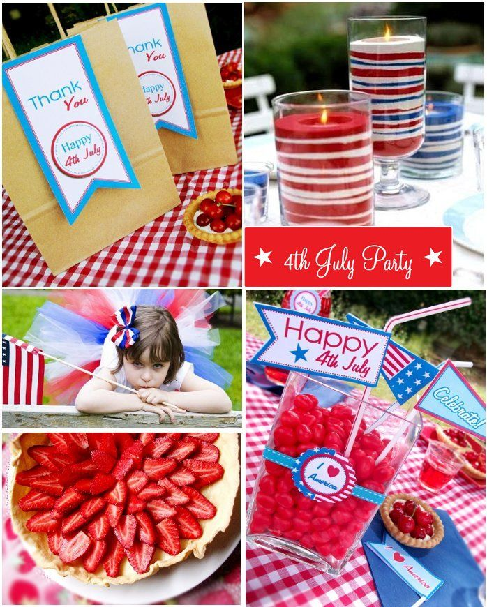 4th july party celebrations party table decorationsparty