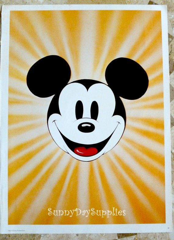 Vintage Disney Poster  Micky Mouse Poster 1970's  Mint Condition 15 x 11 inches Walt Disney Production Posters