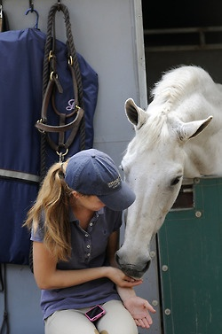 This reminds me of this girl at my barn and her horse ♥.