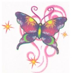 Butterfly temporary tattoo design