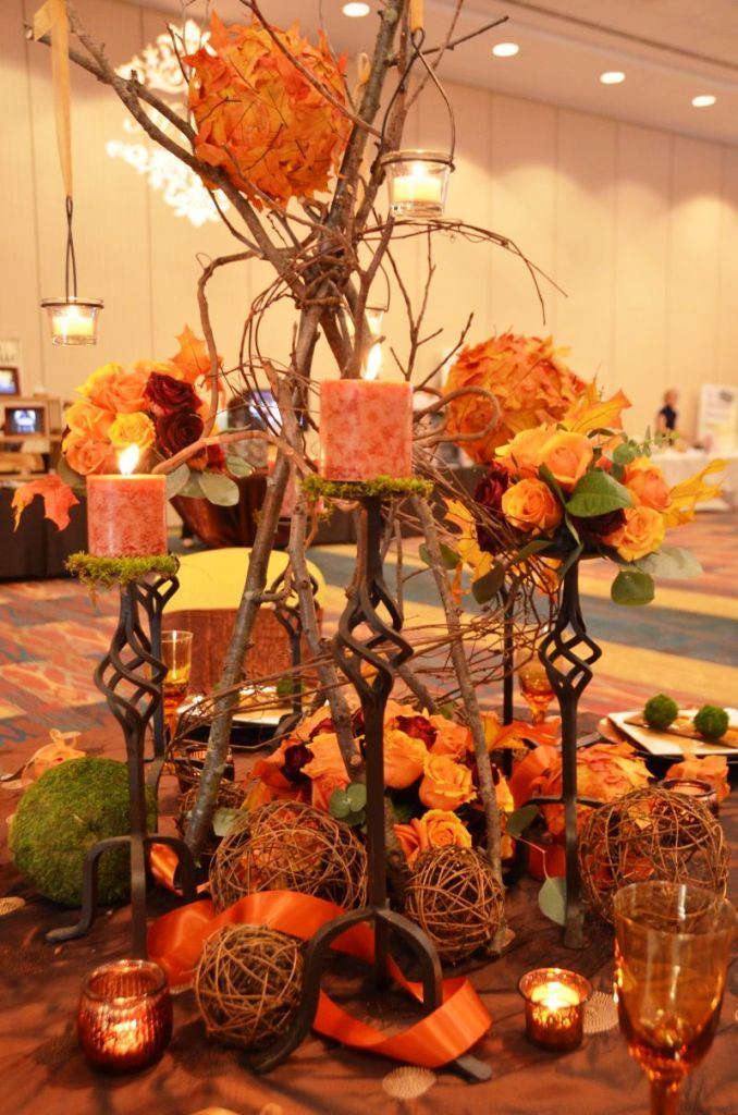 Wedding decorations for fall custom wedding glass Modern fall table decorations