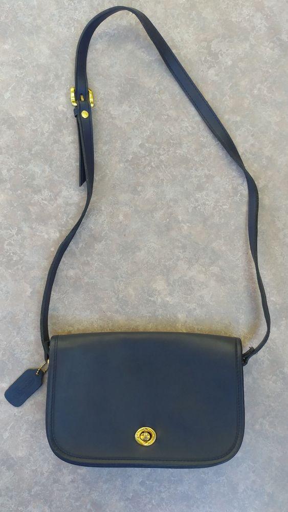 3570dd6d33e Coach♡Authentic Vintage Navy Blue 3 Pockets Leather City Bag Crossbody  Shoulder   Women s Bags   Handbags   Pinterest