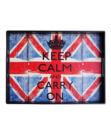 Take a look at this Jay Import 'Keep Calm and Carry On' Tray by Jay Import on #zulily today!
