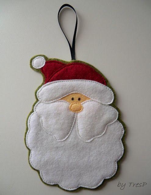 TresP craft blog: Adornos de navidad de fieltro