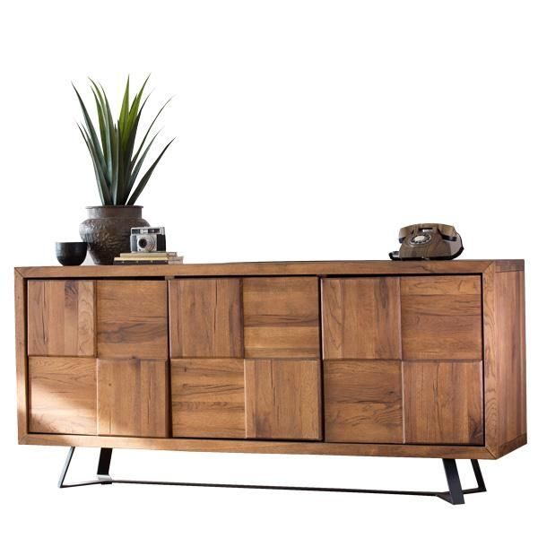 Mitcham Industrial Oak Sideboards Living Room Sideboard Decor Contemporary Sideboard