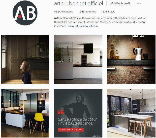 [ 90 ans de création française ] En 2017, la marque Arthur Bonnet débute son aventure Instagram ! Sur le célèbre réseau social, Arthur Bonnet propose des photos de réalisations magasins, des citations et partage des événements et des tendances déco.  Une page riche en inspirations à découvrir !