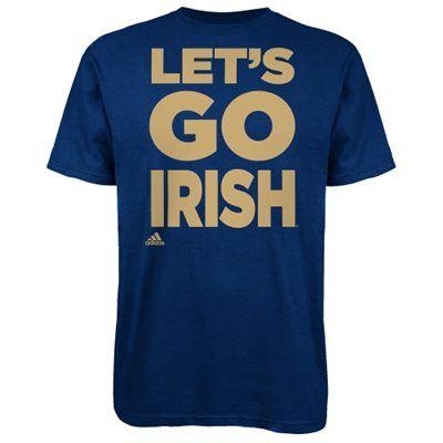 adidas Notre Dame Fighting Irish Navy Blue Let's Go T-Shirt