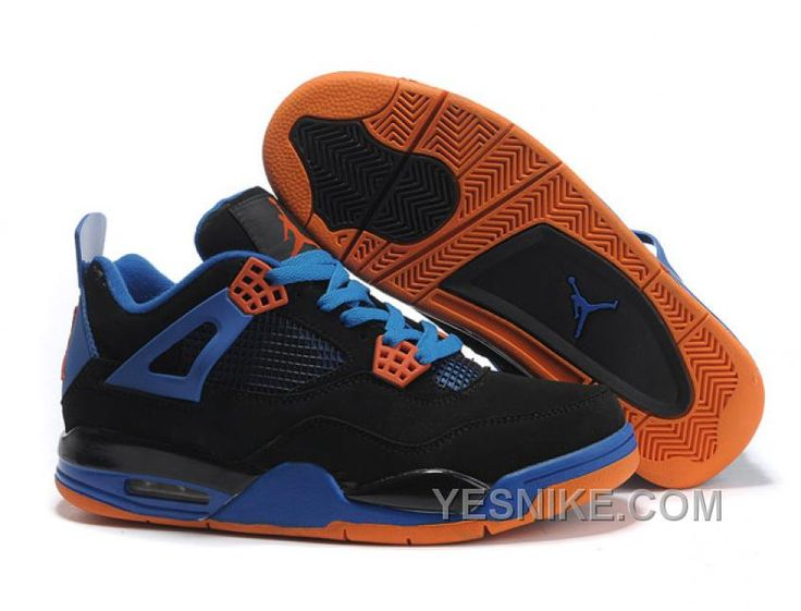 Nike Air Jordan 4 IV Noir Bleu Orange
