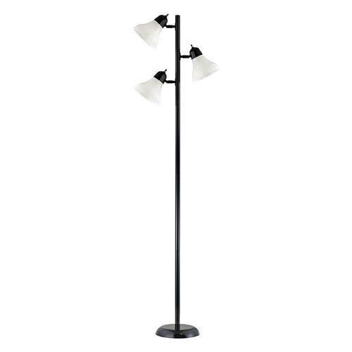 Black Floor Tree Lamp with Three Directional Lights at Destination Lighting