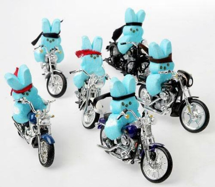 Blue Biker Peeps!Motorcycles, Easter Candies, Bikerpeep, Funny, Sunday Afternoon, Biker Peep, Little Tattoo, Colorado Spring, Happy Easter