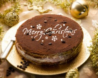 Merry Christmas decorations Round stencil cake H014 Round stencil for cake decoration