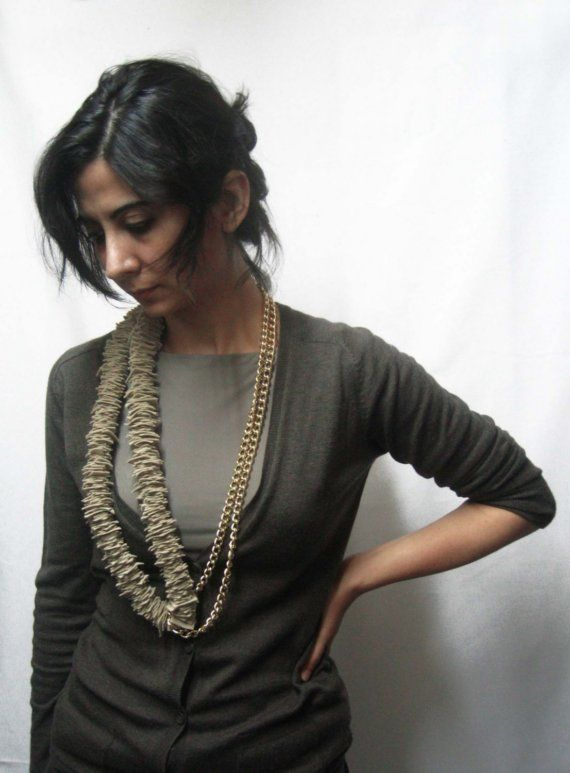 GIULIA Slice Statement Necklace by Gila $70, #Design, #Necklace, #Felt