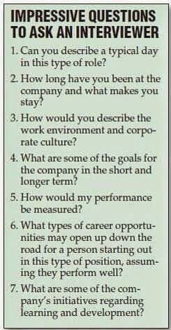 tips on interviewing for a job