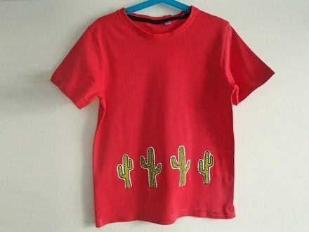 T-shirt da bambino, in puro cotone - cactus : Moda bambino di mompatchwork