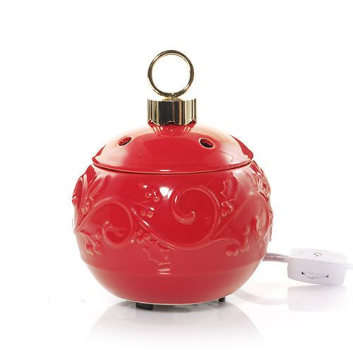 a wax warmer shaped just like your favorite christmas tree ornament our beautiful bright red electric wax melts warmer is the perfect way to fill your