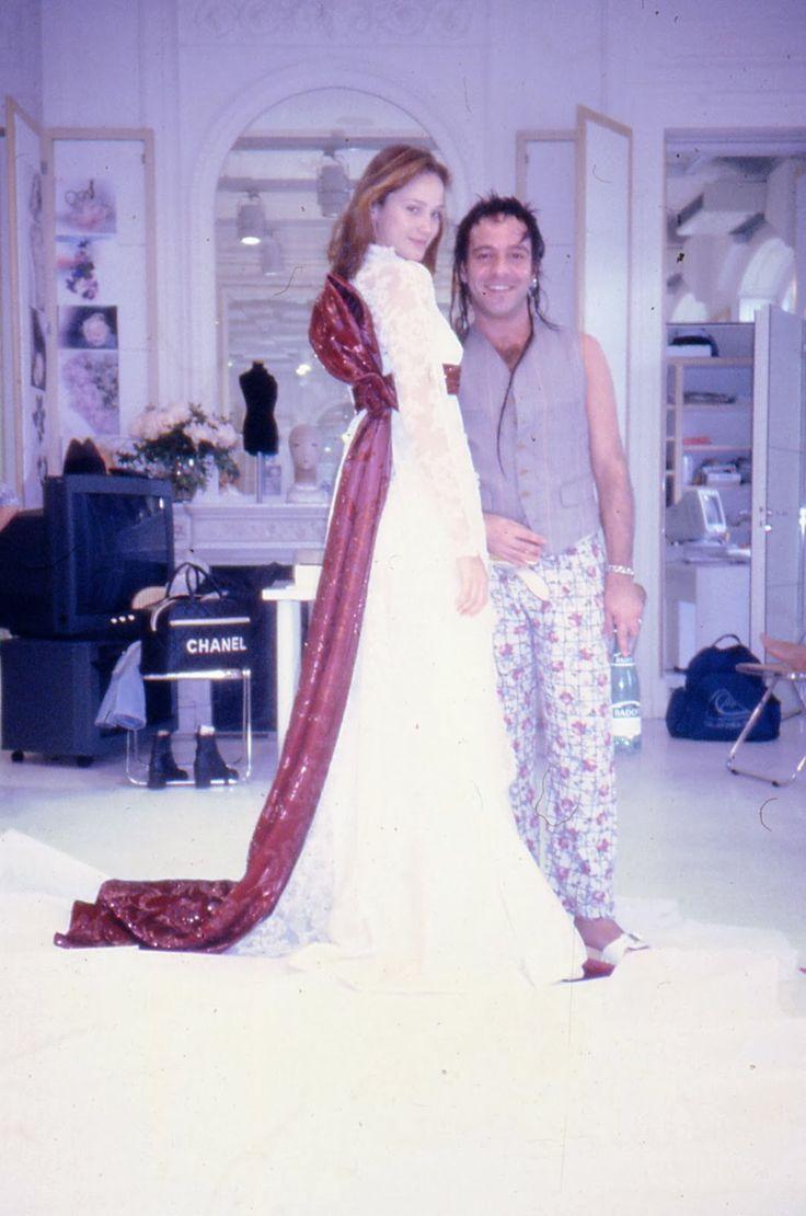 John Galliano and Ines Rivero. Photo by Alexandre Ale de Basseville.