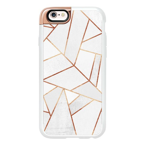 White Stone and Copper Lines - iPhone 6s Case,iPhone 6 Case,iPhone 6s... (2,205 DOP) ❤ liked on Polyvore featuring accessories, tech accessories, phone cases, phone, electronics, fillers, iphone case, white iphone case, apple iphone cases and iphone hard case