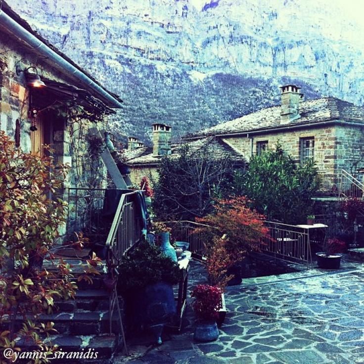 Papingon village, Zagorohoria, Ipiros, Greece