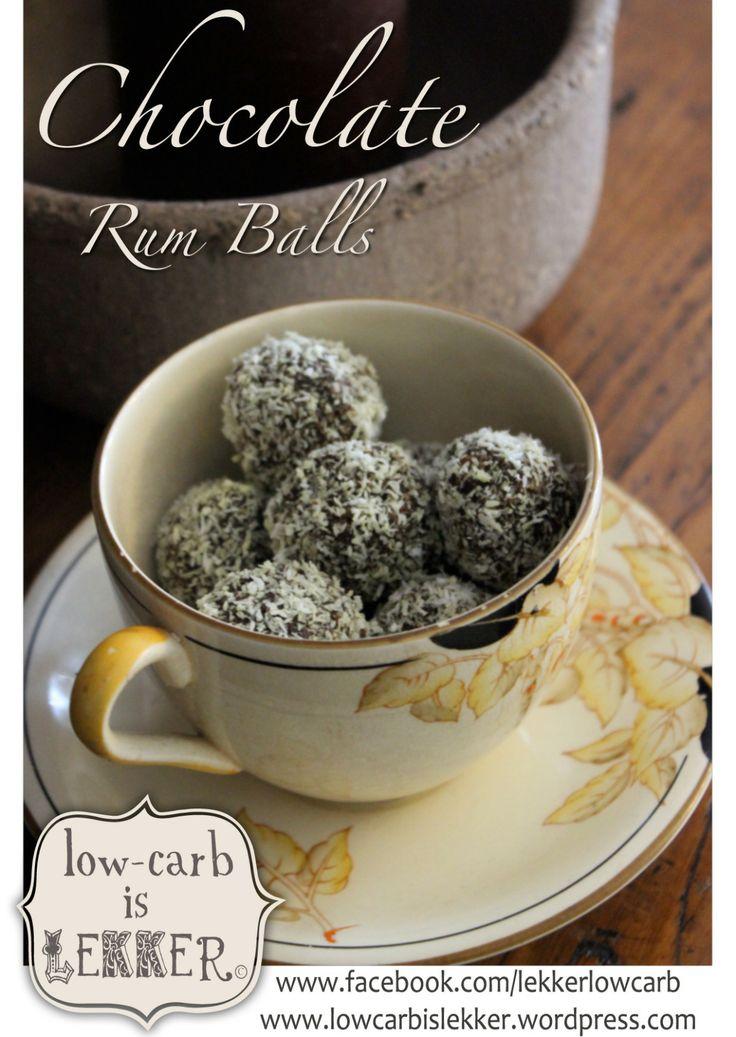 Chocolate Rum Balls Lowcarb is Lekker