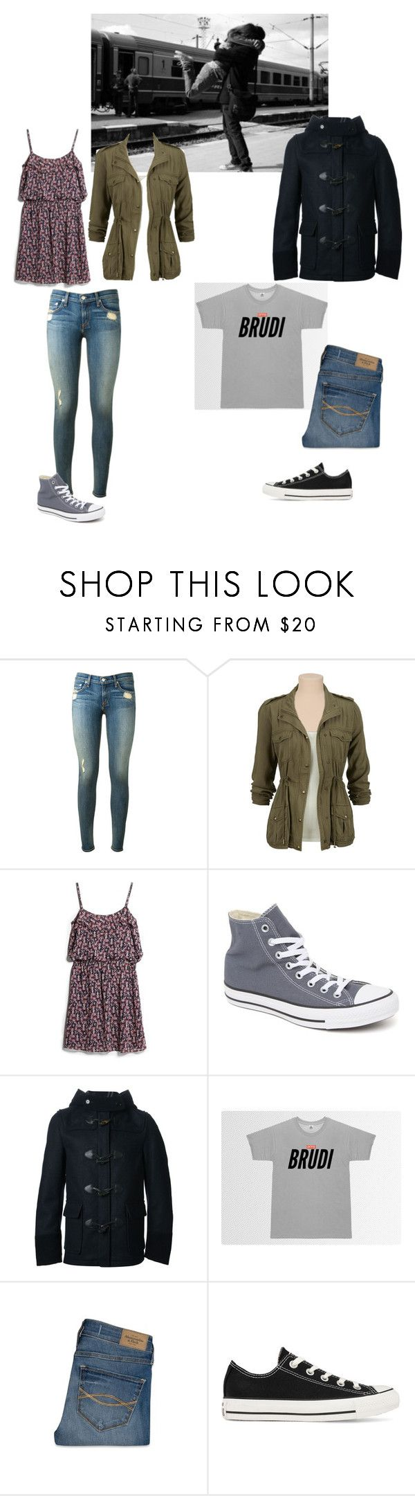 """""""Wiedersehen *~*"""" by louisamxrie ❤ liked on Polyvore featuring rag & bone, MANGO, Converse, Junya Watanabe Comme des Garçons and Abercrombie & Fitch"""