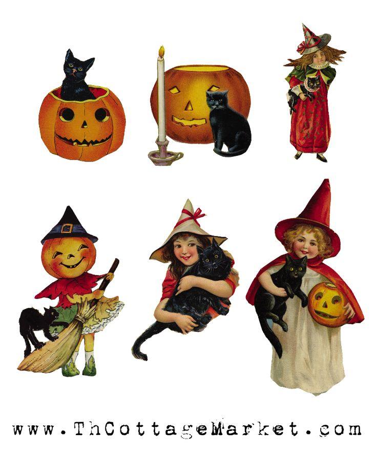 halloween clip art free vintage - photo #18