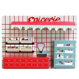 Toy grocery shopDinette Epicerie, 2009 281 Grocery Shops, Wall Hanging, Zoe De, Of The, Kids, Las Cases, Epicerie Zoe, Zoé De