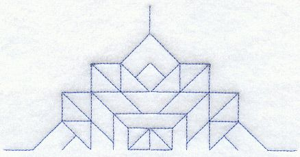 Church Windows Quilting Half Square (Double Run) design (B2107) from www.Emblibrary.com