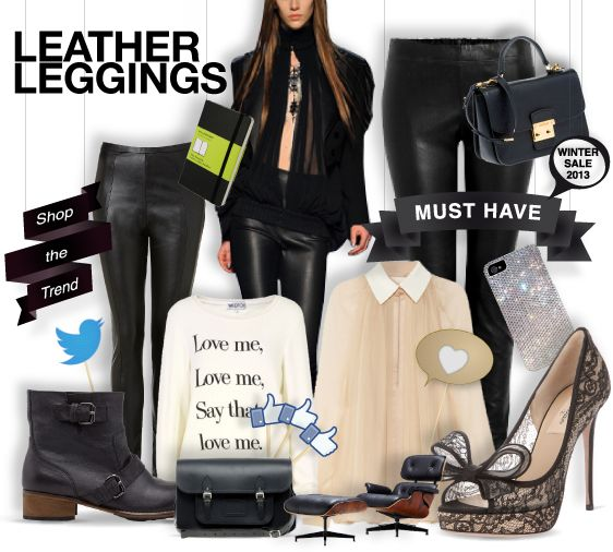 Leather leggings - must have - shopthemagazine.com #musthave