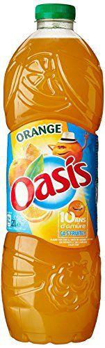 Oasis Boisson aux fruits et à l'eau de source Saveur Orange la bouteille de 2 L: À l'eau de source. Teneur en fruits : 15%. Sans bulle et…