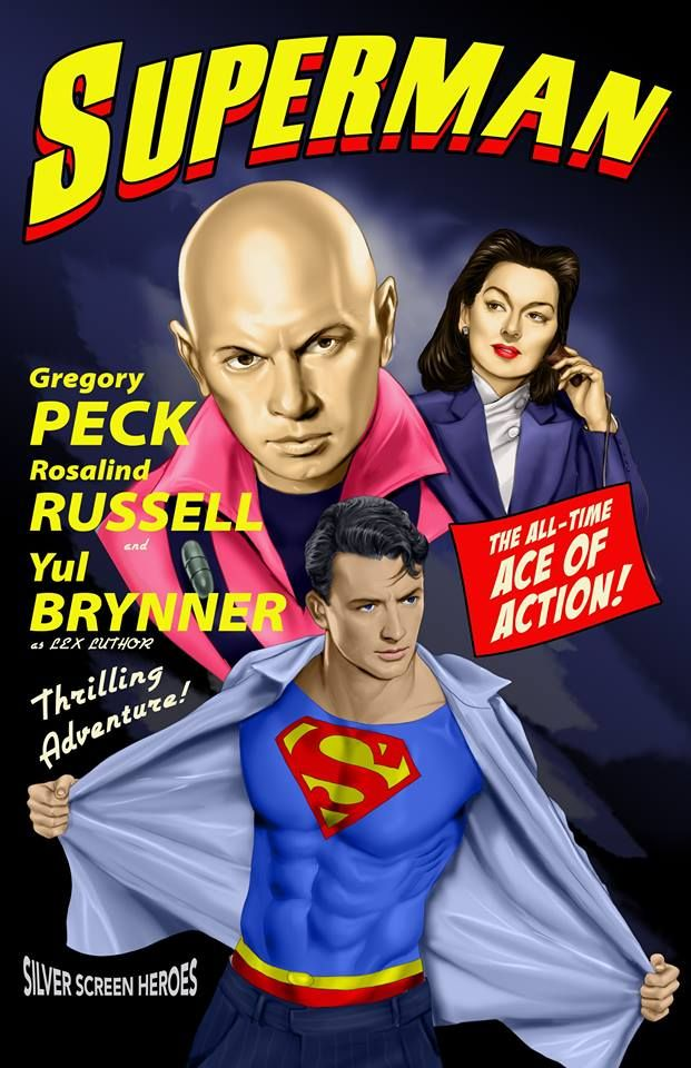 Awesome Art Series Imagines Classic Hollywood Stars in Superhero Movies Throughout The Years — GeekTyrant
