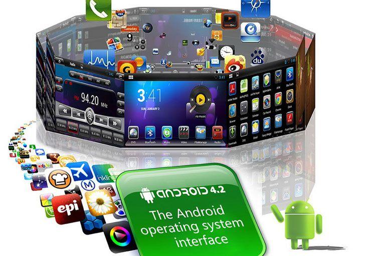 Hot vente Dual-core A9 Android 4.2 GPS Radio appui tête pour 2011 2012 KIA K2 avec DVD Bluetooth AUX 1080P Lien Miroir Caméra de arrière OBD2