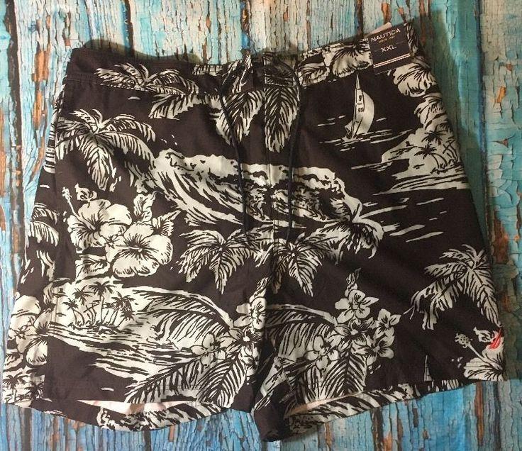 NWT Nautica Men's Swimming Surf Shorts Mesh Brief Brown Floral Size XXL  | eBay