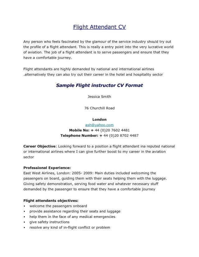23 Flight Attendant Cover Letter Flight Attendant Resume Cover