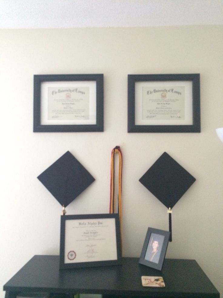 25 best diploma display ideas on pinterest photo walls for Ways to hang hats on wall
