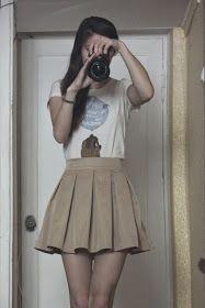 NO NO: falda con pliegues