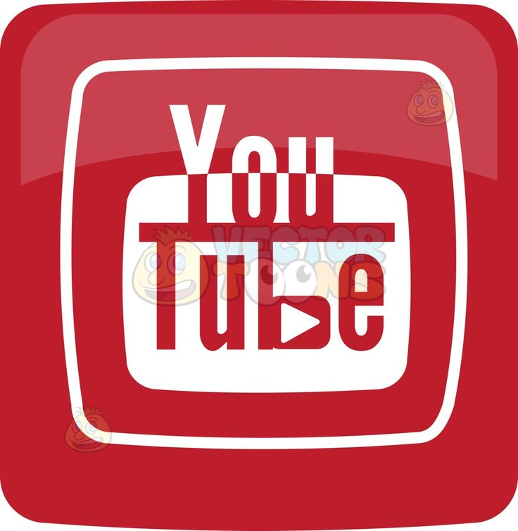 You Tube Logo Icon :  A square with smooth edges glossy red fill a white border surrounding the word You in half white font and the words Tube in red font with a white rectangle filling the background of the letters  The post You Tube Logo Icon appeared first on VectorToons.com.