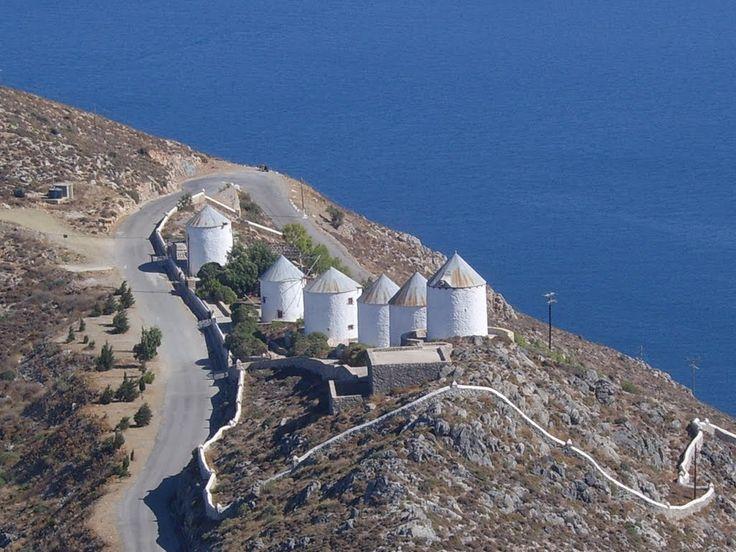 We ♥ Greece | View from castle, #Leros #Greece #travel #greekislands #explore #windmills