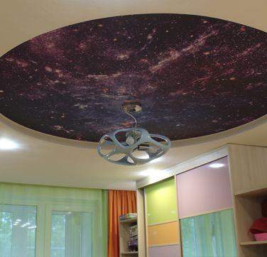 фото двухуровневого потолка прямоугольник