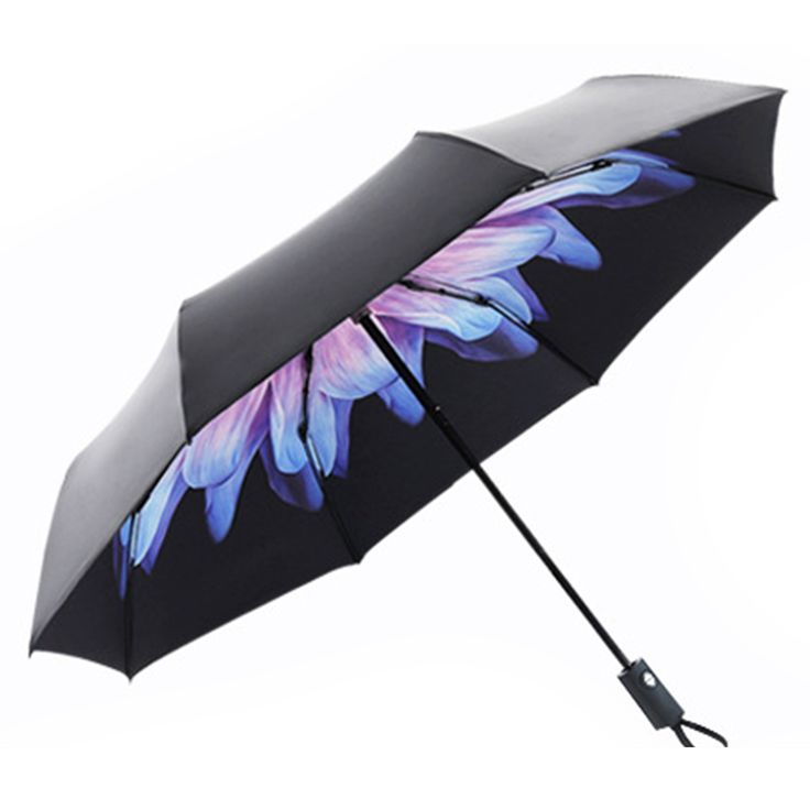 Carry this folding umbrella with you in rainy days or sunny days. It is automatic and easy to open and close. Best of all, with the hook handle, you can hang it on a chair or a coat hook.