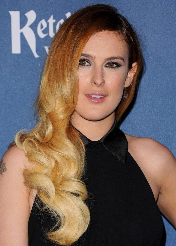 HAIR STYLES FOR ALL......... Demi Moore's Daughter,Rumer Willis Brown to Blonde Ombre Retro Hairstyle for Long Hair BELLADONNA