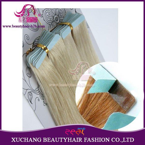 Extensões de tissagem de cabelo de fita remy de cor de pele http://www.beautyhairextension.pt/product/show-23-tape-remy-hair-extensions.html