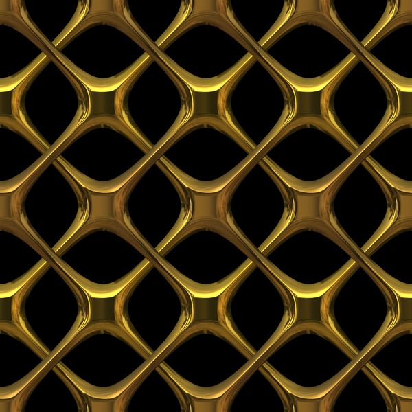 abstract metal screen | Gold Lattice: 3D gothic interlaced golden metal - could…