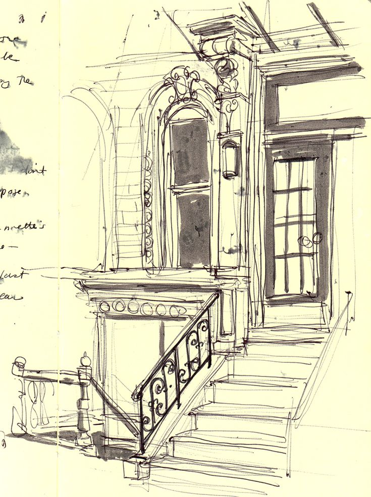 I don't know why but this sketch evoke a sense of nostalgia - the house is so beautiful.