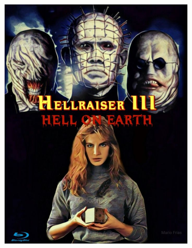 Hellraiser 3 Hell On Earth Horror Movie Fan Made Poster